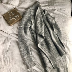 LOFT shades of grey cozy waterfall cardigan